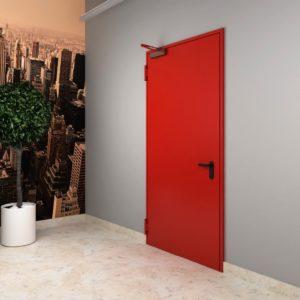 Деревянная противопожарная дверь